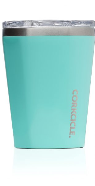 Corkcicle Reusable Cup : Gloss Turquoise - with FREE carry bag