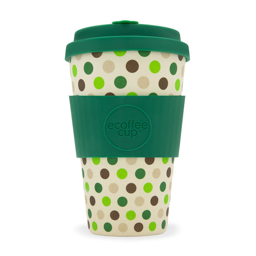 ecoffee Cup Large: Green Polka