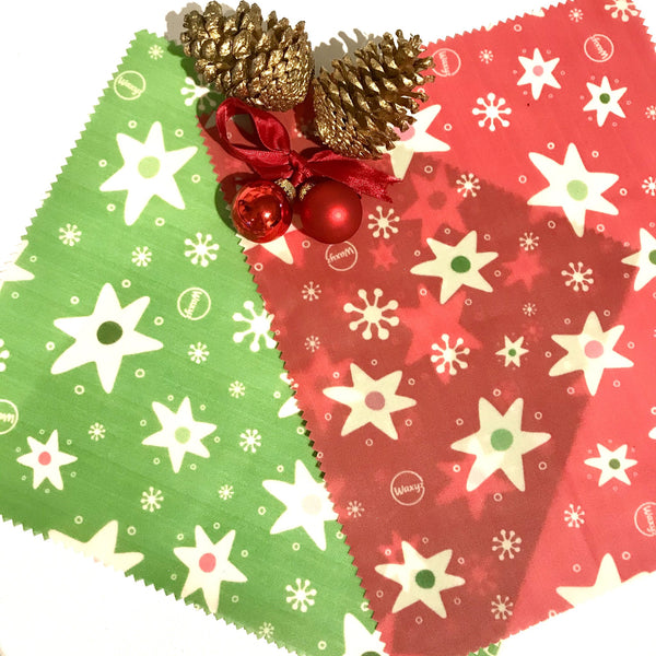 Reusable Wax Wrap on a roll - Christmas Red