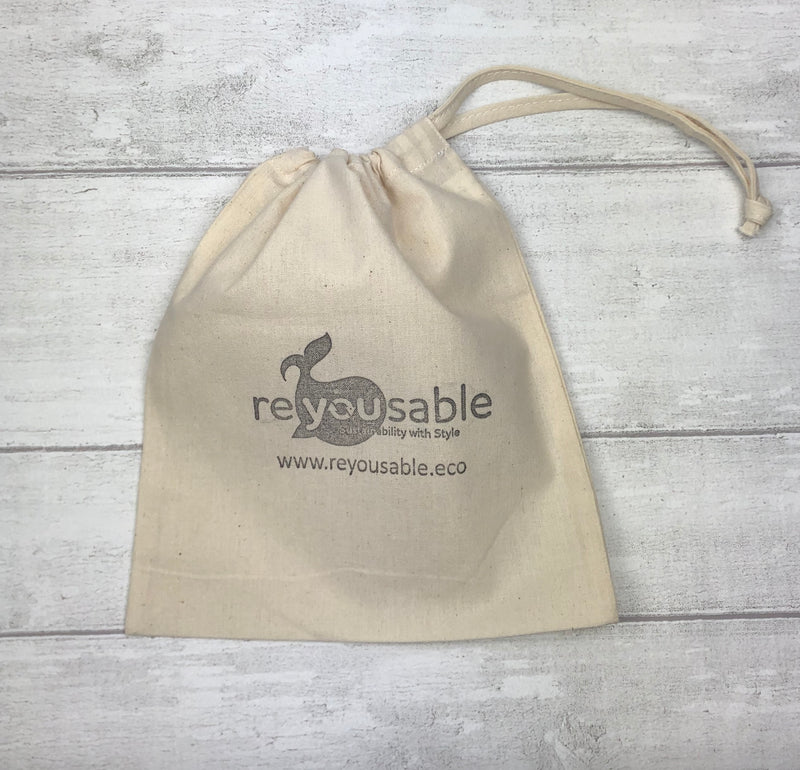 Reyousable cotton cup bag