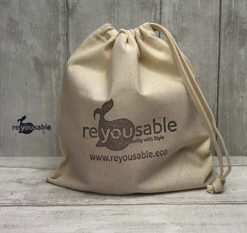"Reyousable cotton ""4D pouch""  - cup carry bag"