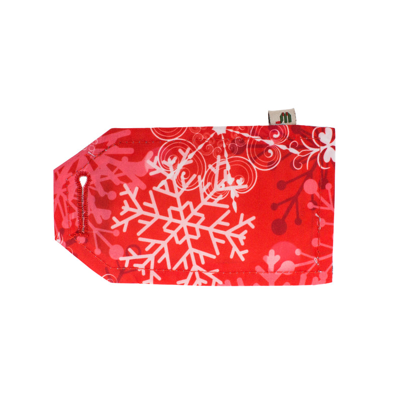 Wrag Wrap Reusable Reversible Crackle Wrap: Christmas Frost