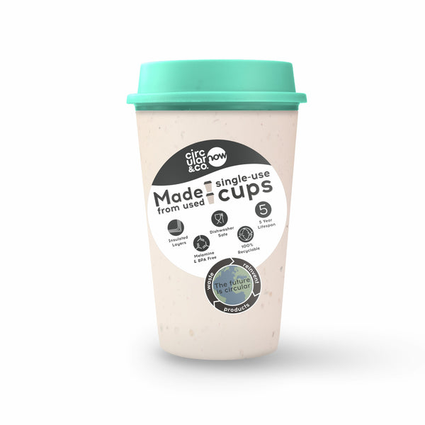 Circular Cup NOW Reusable Cup - Cream and Happy Mint