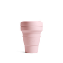 Stojo Brooklyn 12oz Collapsible Reusable Cup: Carnation Pink