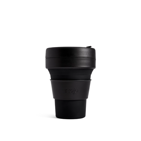 Stojo Brooklyn Pocket 12oz Cup: Ink - with FREE carry bag
