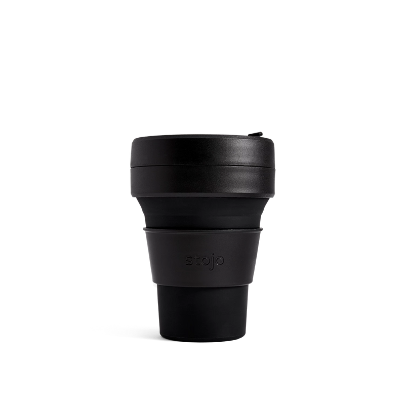 Stojo Brooklyn Pocket 12oz Collapsible Reusable Cup: Ink Black
