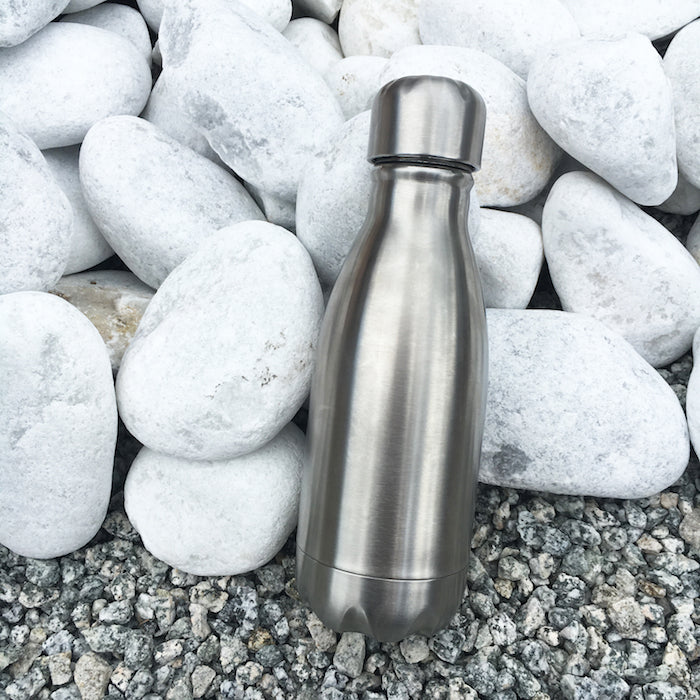 Qwetch Small Bottle - Brushed Steel