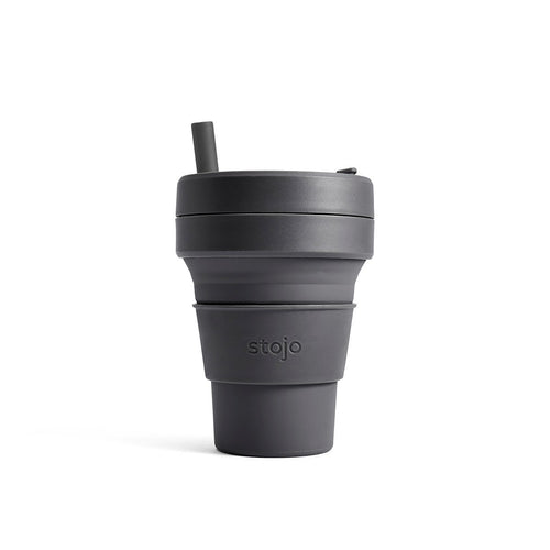 Stojo Brooklyn Collection Biggie 16oz Cup: Carbon