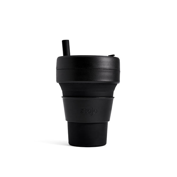 Stojo BrooklynStojo Brooklyn Biggie 16oz Collapsible Reusable Cup: Ink Black
