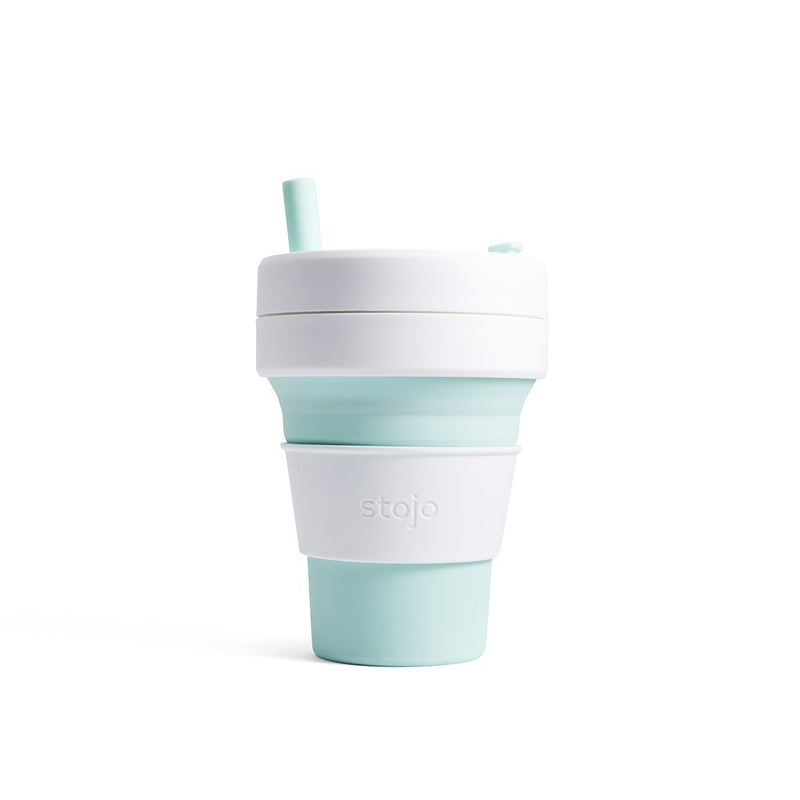 Stojo Biggie 16oz Collapsible Reusable Cup: Mint