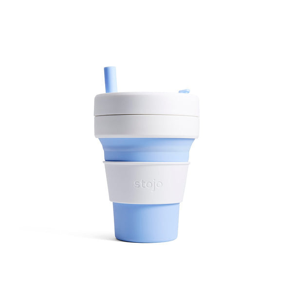 Stojo Biggie 16oz Collapsible Reusable Cup: Sky Blue