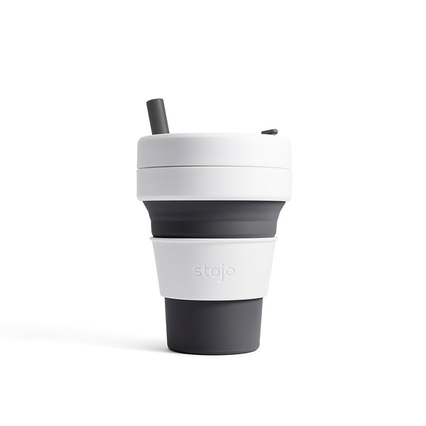 Stojo Biggie 16oz Collapsible Reusable Cup: Slate Grey