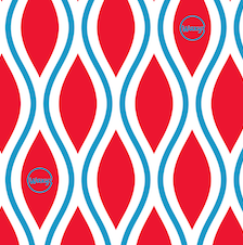 Reusable Wax Wrap on a roll - Diamonds Red & Blue