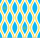 Reusable Wax Wrap on a roll - Diamonds Blue & Yellow