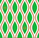 Reusable Wax Wrap on a roll - Diamonds Green & Orange