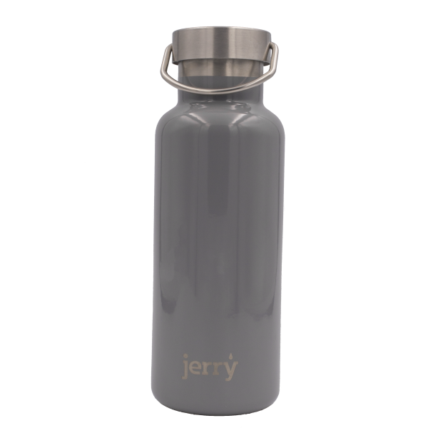 Jerry Reusable Bottle: Silver Brunia