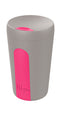 Hip Reusable Travel Cup - Stone Grey & Hot Pink