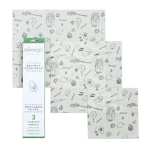 Load image into Gallery viewer, Abeego Beeswax Food Wrap - Variety Pack (1 x Sml, 1 x Med, 1 x Lrg)