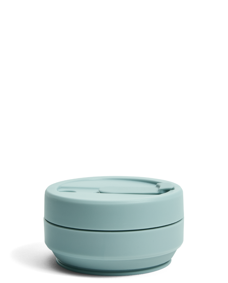 Stojo Pastels 12oz Collapsible Reusable Cup: Aquamarine