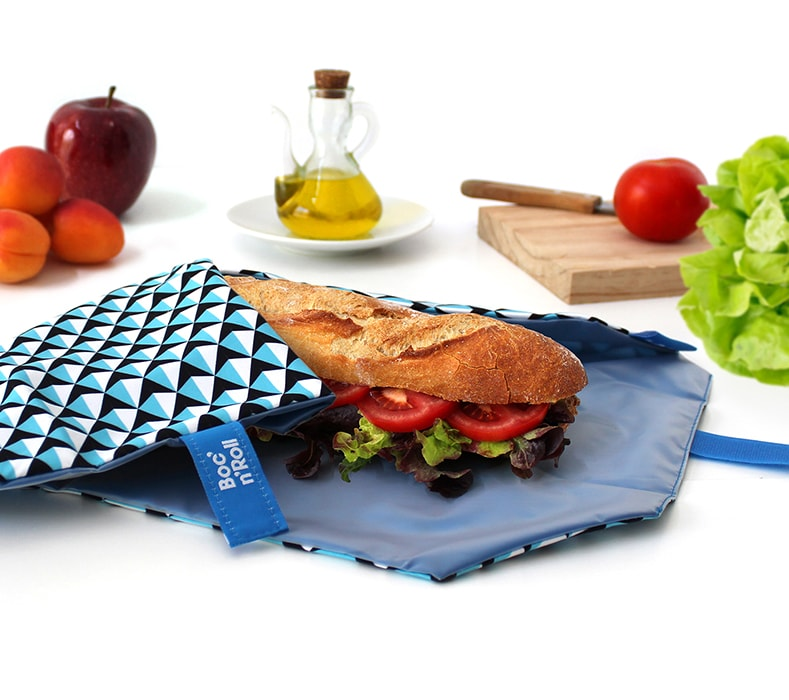 Boc 'n' Roll Sandwich Wrap : Tiles Blue