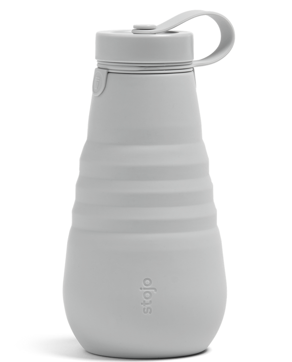Stojo Collapsible Reusable Bottle 20oz: Cashmere Grey