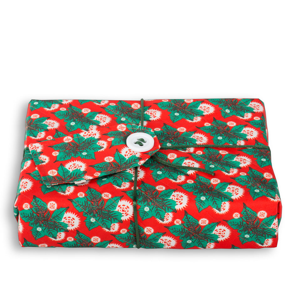 Wrag Wrap Crackle Wrap: Poinsettia Green Petal