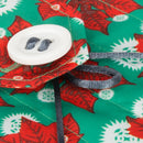 Wrag Wrap Reusable Crackle Wrap: Poinsettia Red Petal