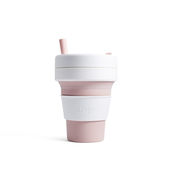 Stojo Biggie 16oz Cup: Rose - with FREE carry bag