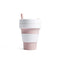 Stojo Biggie 16oz Collapsible Reusable Cup: Rose Pink