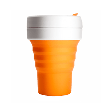 Load image into Gallery viewer, Stojo Pocket 12oz Cup - Orange