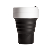 Load image into Gallery viewer, Stojo Pocket 12oz Cup - Black and White