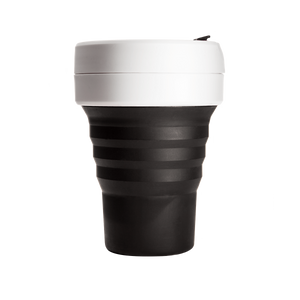 Stojo Pocket 12oz Cup - Black and White