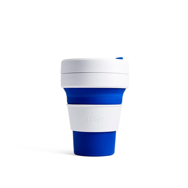 Stojo Pocket 12oz Collapsible Reusable Cup: Blue