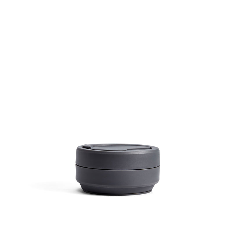 Stojo Brooklyn Biggie 16oz Collapsible Reusable Cup: Carbon