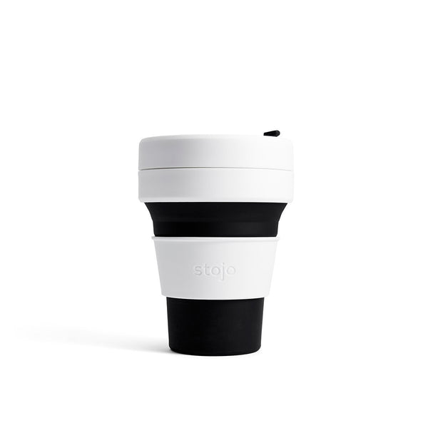 Stojo Pocket 12oz Collapsible Reusable Cup; Black