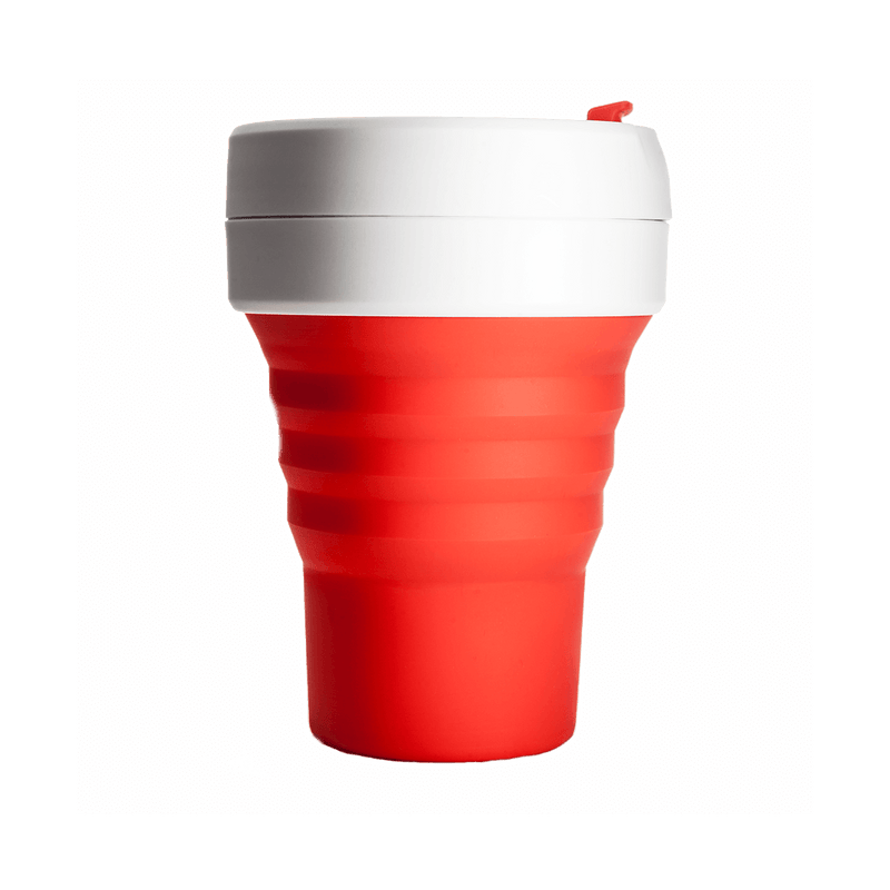 Stojo Pocket 12oz Cup: Red