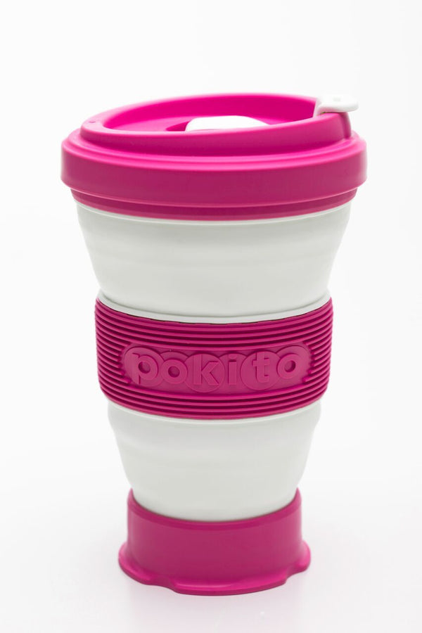 Pokito Collapsible Reusable Cup: Raspberry Pink