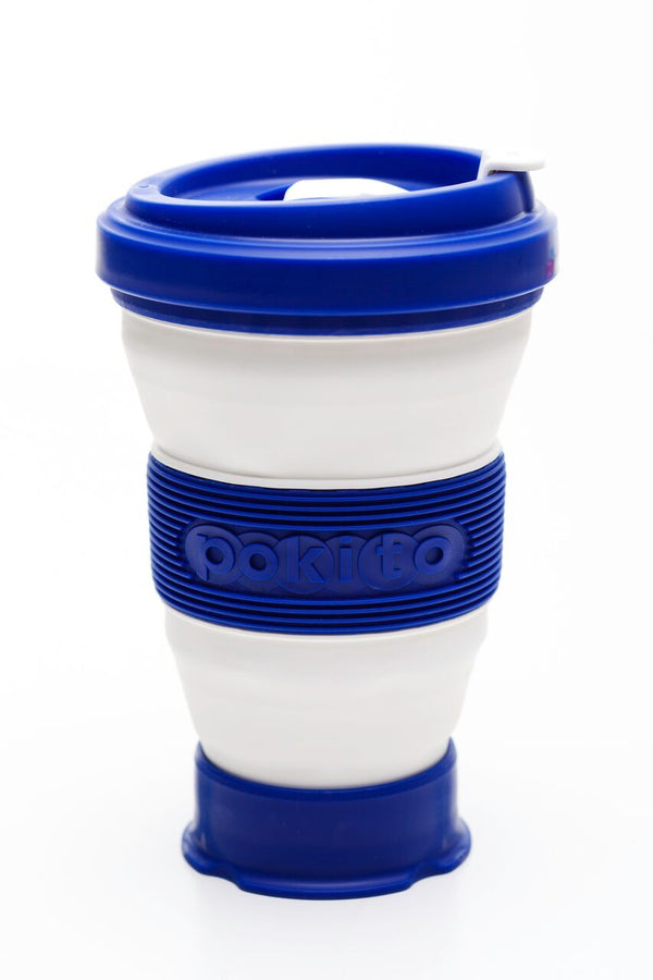 Pokito collapsible reusable cup: Blueberry Blue