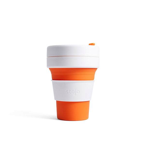 Stojo Pocket 12oz Collapsible Reusable Cup: Orange