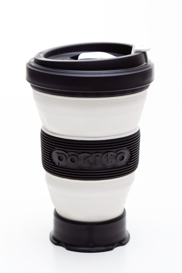Pokito collapsible reusable cup: Blackberry Black