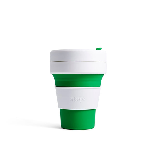 Stojo Pocket 12oz Cup: Green