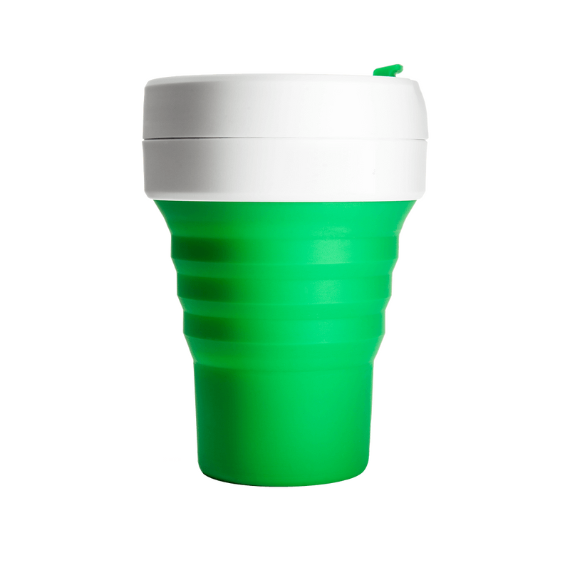 Stojo Pocket 12oz Collapsible Reusable Cup: Green