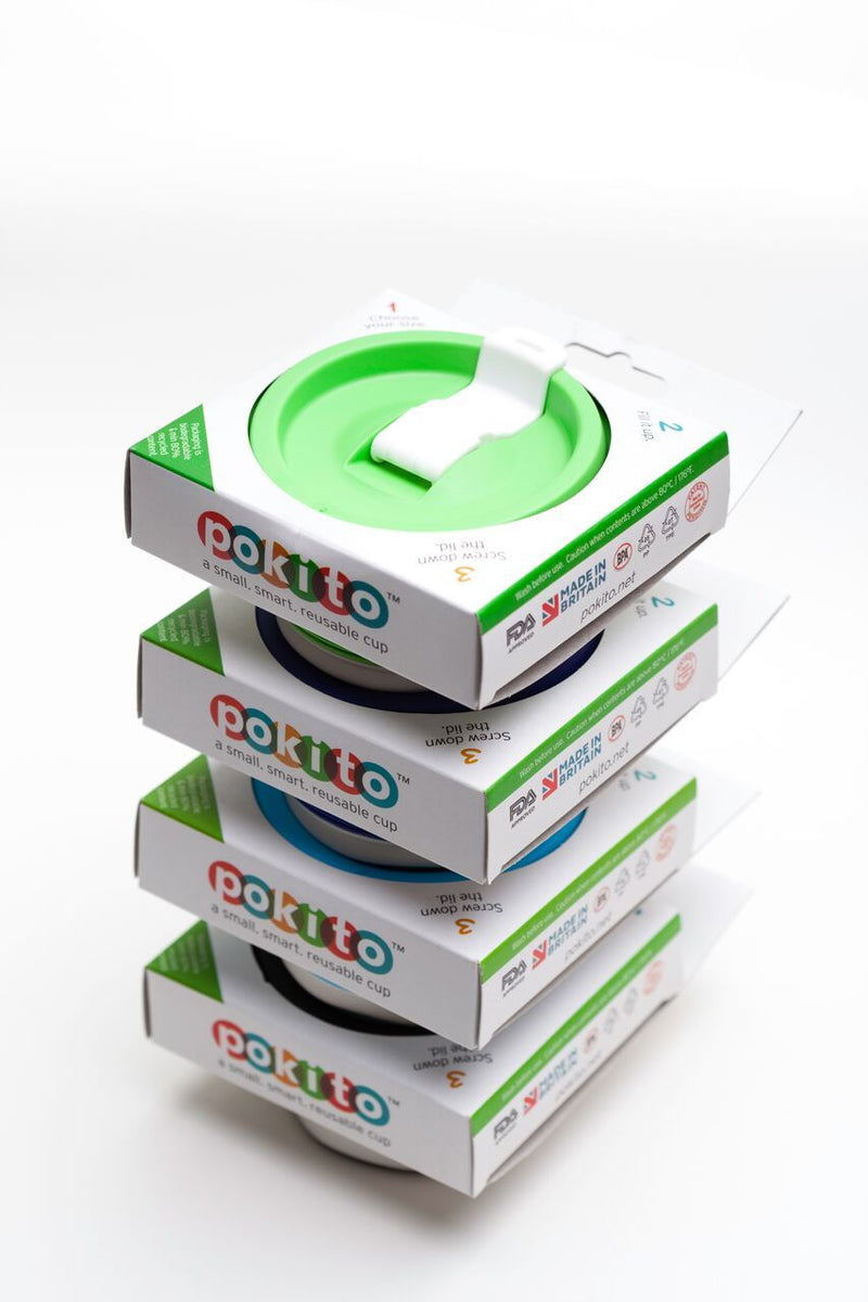 Pokito reusable collapsible cup: Lime