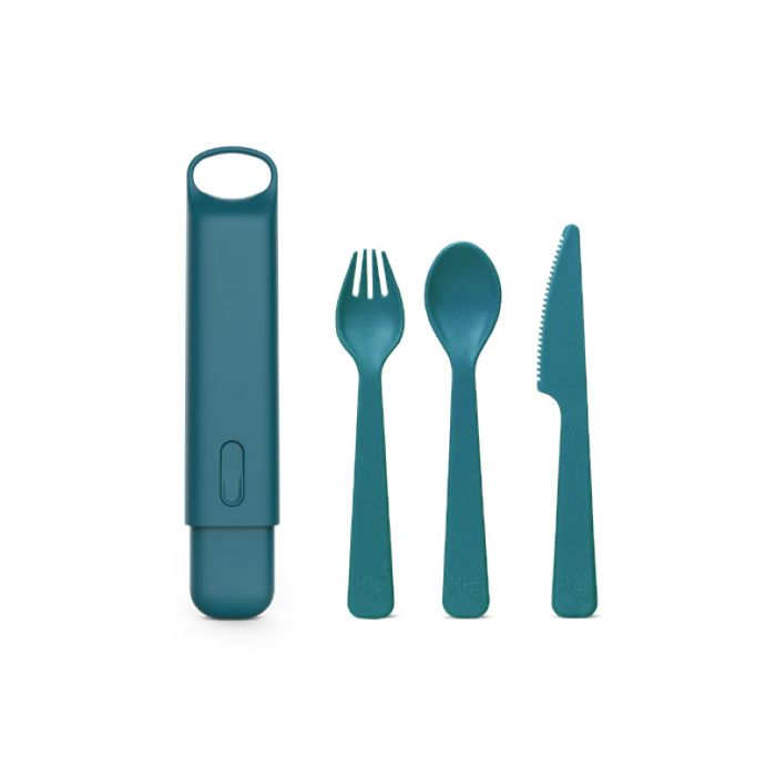 Hip with Purpose Reusable Cutlery with Case: Jade