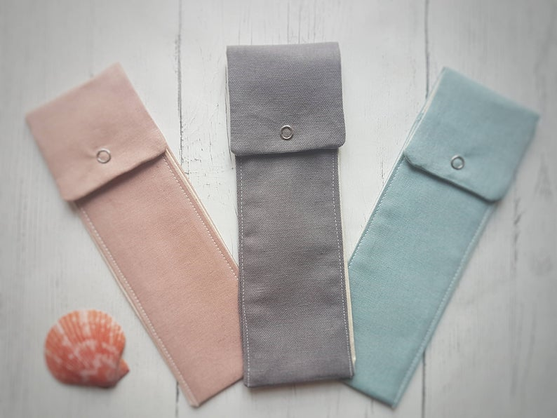 Reusable Cutlery Pouch - Plain Grey