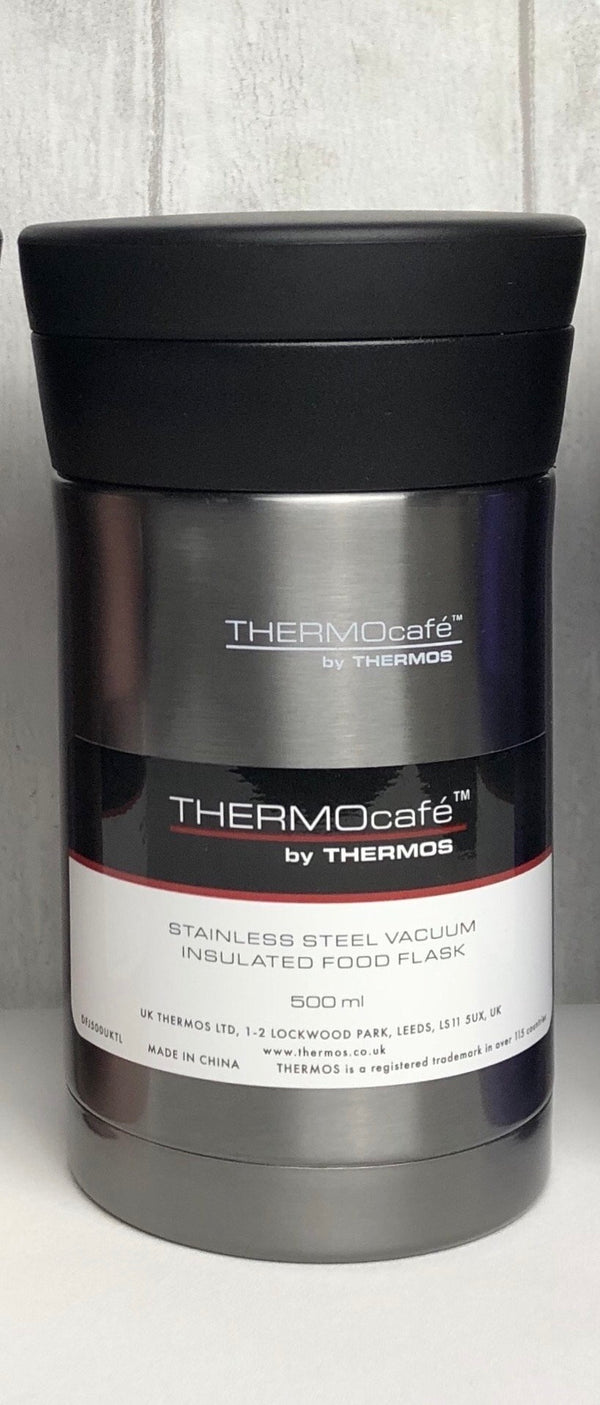 Thermos THERMOcafé Insulated Food Flask - Metallic Grey