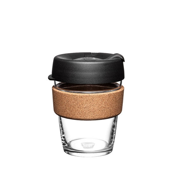 KeepCup Reusable Brew Cup Cork Medium: Black