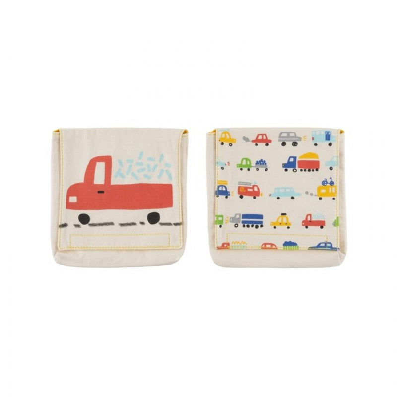 Reusable Organic Cotton Snack Packs: Cars