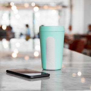 Hip Reusable Travel Cup - Mint & Cloud