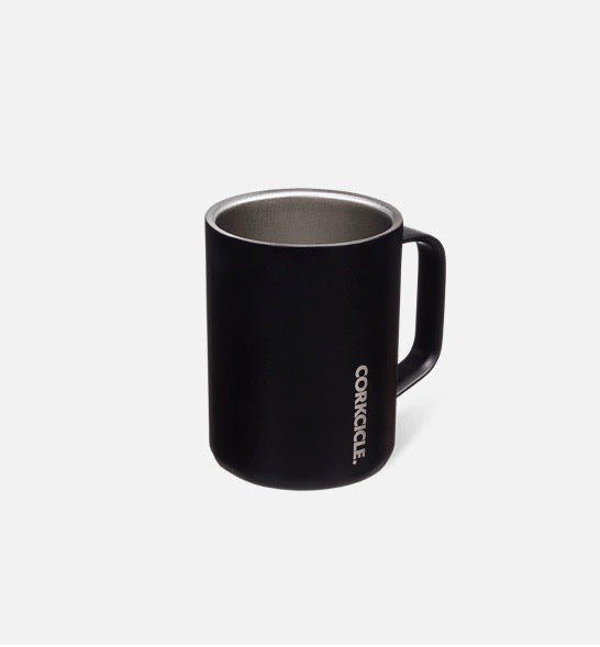 Corkcicle Reusable Mug with Handle: Dipped Black